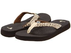 Sanuk Yoga Wildlife. I also have these ones, very comfy. Sanuk makes their flops from yoga mats!! pretty cool.