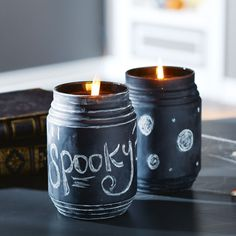 Chalked Jar Candle