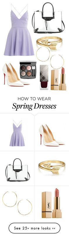 """""""Sophisticated girl"""" by outfitssforyou on Polyvore featuring AX Paris, Christian Louboutin, Balenciaga, Bling Jewelry, Lana, Chanel and Burberry"""