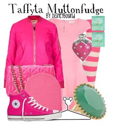 """Taffyta Muttonfudge"" by leslieakay ❤ liked on Polyvore featuring River Island, Topshop, Kate Spade, Forever 21, Jamie Joseph, Stella & Dot, Wet Seal, Disney, Converse and women's clothing"
