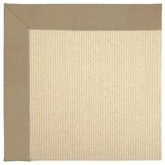 Capel Zoe Machine Tufted Biscuit/Beige Area Rug Rug Size: Square 10'