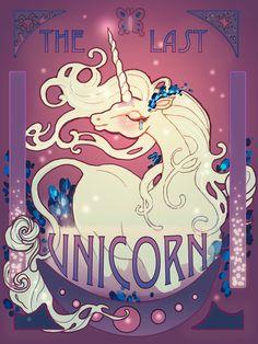 The Last Unicorn Art Print by larageltz Unicorn And Fairies, Unicorn Art, Magical Unicorn, Forest Drawing, Unicorn Tattoos, Unicorn Pictures, The Last Unicorn, Arte Pop, Mythical Creatures