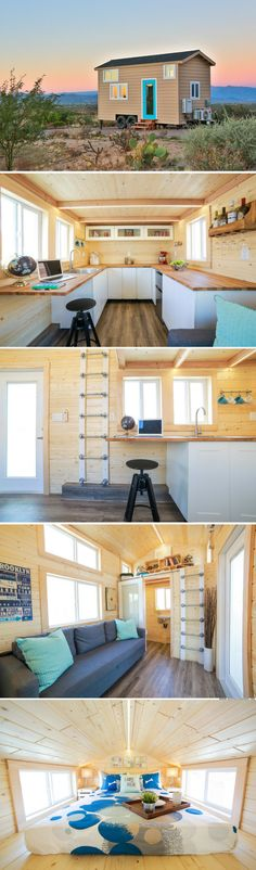 The Mansion Jr: a 230 sq ft tiny house from Uncharted Tiny Homes with a rather spacious kitchen!