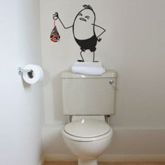 Funny Wall Decal with Air Freshener.
