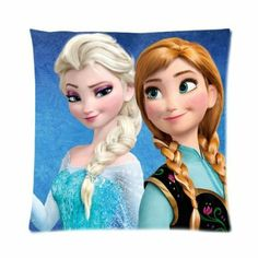 "Disney Frozen Disney Elsa and Anna Pillow Case 16""x16"" (one side)"