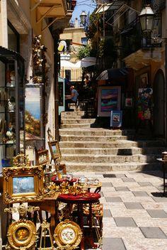 Taormina, Treppengasse beim Corso Umberto Italy
