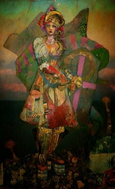 Joshua Burbank - Mixed media on wood panel   Masterpiece of Art