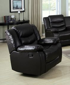 4 Pc Brown Bonded Leather Sectional Sofa With Recliners
