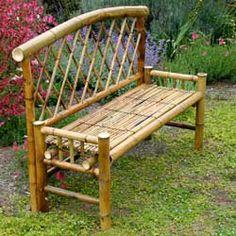 Sturdy Bamboo Garden Bench