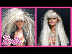 DIY - How To Fix Barbie Doll Hair - Restore Barbie Hair Tutorial – Making Kids Toys - YouTube #Barbie #Barbiedoll #DIY #Barbiediy #doityourself #tutorial #Barbiegirl #barbiecraft #barbiehaircut #barbiehairstyle