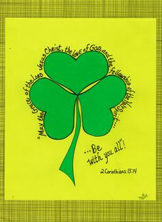 St. Patrick used a 3-leaf clover to teach about the Holy Trinity (3 in One). www.facebook.com/TheGoodNewsCartoon