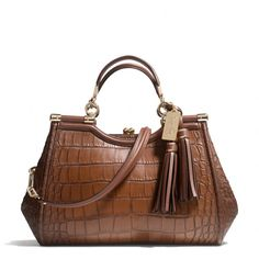 The Madison Carrie In Croc Embossed Leather from Coach