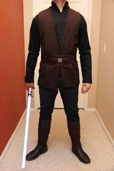Jedi Costume - Luke - Shirt, Vest, Sash, Belt, and pants