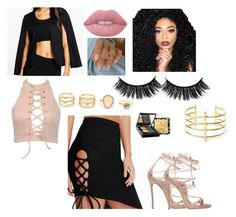 """""""Show Some Leg tho :)"""" by oliviaraeoriginal ❤ liked on Polyvore featuring Boohoo, Lime Crime, Kylie Cosmetics, Dsquared2, BauXo, LULUS, Elizabeth Arden, falsies, ThatSkirtThough and mattelip"""