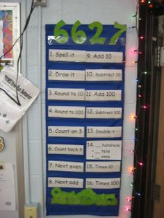Consider using this as a number of the week board. Students can complete the work in their math journals.