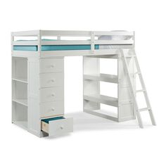 Canwood Furniture Skyway Twin Loft Bed with Storage & Reviews | Wayfair