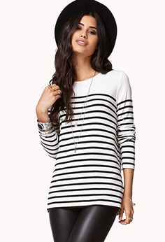 Essential Fitted Striped Tee | FOREVER21 - 2061348916