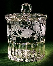 Floral Pattern Biscuit Jar - Gorgeous Piece!