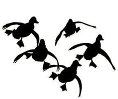 Cupped Duck Window Decal
