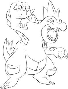 Click To See Printable Version Of Feraligatr Coloring Page