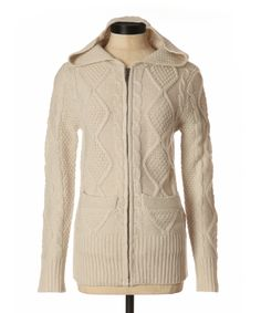 bootlegger.com : kismet elliot cable knit sweater in cream, med brown and charcoal