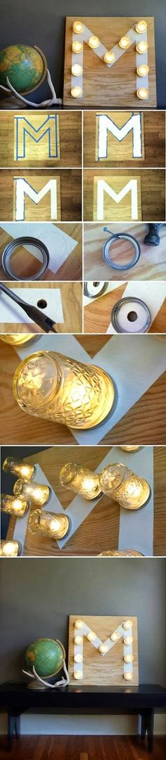 DIY : Decorative Jar Light. I have the perfect jars for these.  I must try!