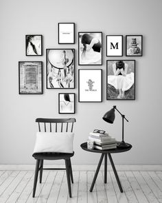 Wall Art Prints Set of 10 – Set of 10 Art Poster – Wall Art Prints – ArtFilesVis … – Modern Apartment Decoration Ideas Black And White Wall Art, White Walls, Black White, Black Frames On Wall, Black And White Design, Photo Frames Diy, Black Art, Diy Picture Frames On The Wall, Black Photo Frames