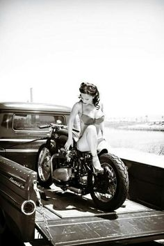 Motorcycle/truck pinup