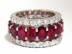 Stackable Ruby Diamonds eternity Ring Natural Vivid Reds Stacking - Famous Last Words Ruby Jewelry, Dainty Jewelry, Fine Jewelry, Jewellery Diy, Bespoke Jewellery, White Gold Wedding Bands, Diamond Wedding Rings, Ruby Engagement Ring Vintage, Eternity Ring Diamond