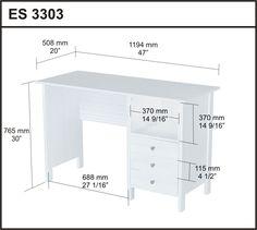 Laricina-White Computer Desk