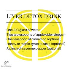 Apple Detox Drink - Apple cider vinegar liver detox drink — Guru Athletica Detox Your Belly At A Deeper Level & Melt Away Your Midsection At ANY Age. Instantly Increase Your Energy At Any Age. Peel Years Off Your Age To Look, Feel & Move Decades Younger Liver Detox Drink, Liver Detox Cleanse, Detox Your Liver, Detox Diet Plan, Smoothie Detox, Body Detox, Detox Drinks, Detox Soup, Kidney Cleanse