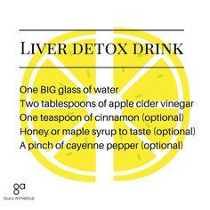 Apple cider vinegar liver detox drink — Guru Athletica
