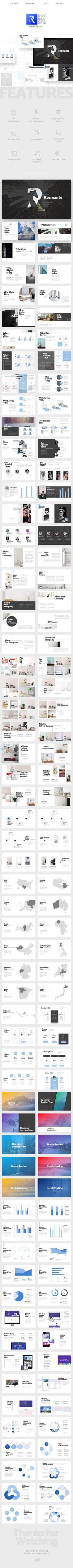 Rocinante Clean PowerPoint Template - Creative PowerPoint Templates