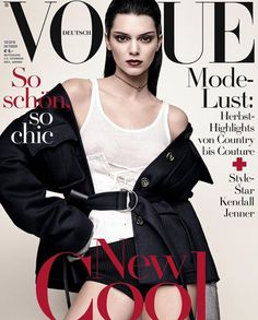13c021d7c6888 Kendall Jenner for the German vogue October ブラジル版ヴォーグ