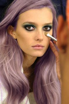 This girl is ROCKING her purple hair! Could you see yourself #daring to be #different. #RAH