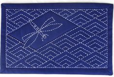 "One thought on "" Dragonfly over Diamond Waves table Mat """