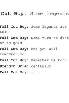 But really guys give us some damn new songs allreadly... I didn't mean it I still love you p!atd ;) ♡