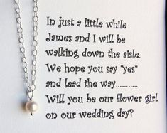 cute way to ask the flower girl