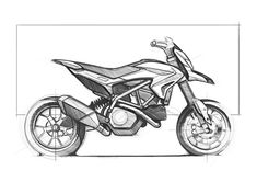 2013 Ducati Hypermotard sketch - Mega Gallery Photo