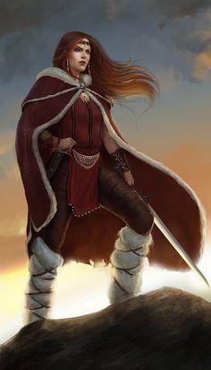 f Ranger Leather Cloak Sword traveler scifi-fantasy-horror: Amazon queen by PxelSlayer