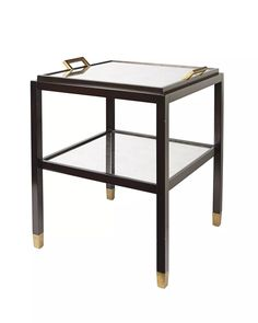 """Parisian Side Table in Ebony - Serena & Lily.  Also available in White.  21""""W x 21""""D x 26""""H overall.  $795 retail"""
