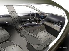 Ford S MAX Concept Interior Design Sketch By Robert Engelmann