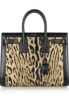 Saint Laurent Sac De Jour small leopard-print calf hair and leather tote   NET-A-PORTER