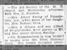 Mrs. Albert Swing Visits Daughter