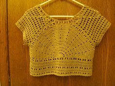 Lazy days of summer crochet cropped top, might make for sis