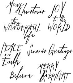 Stampers Anonymous - Tim Holtz - Cling Mounted Rubber Stamp Set - Handwritten Holidays 1 at Scrapbook.com
