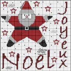 noël - christmas - père noël - point de croix - cross stitch - Blog : http://broderiemimie44.canalblog.com/