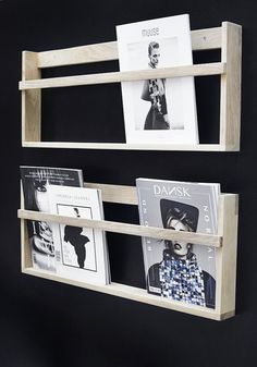 Via Stylizimo | Magazine Rack | Black-Wood