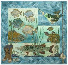 fishing quilt great inspiration!