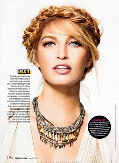 American model Heide Lindegren stars in a summery beauty editorial in the Cosmopolitan US April 2012
